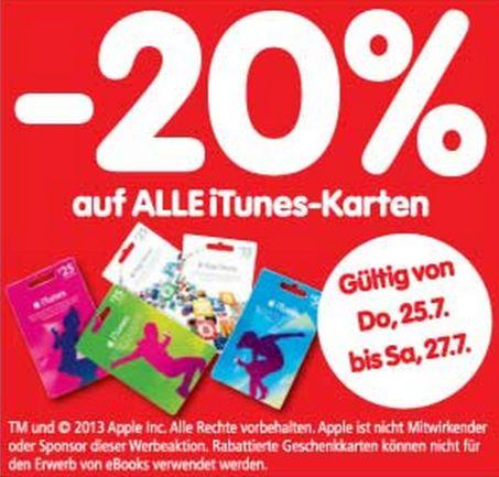 iTunes 20 Prozent Interspar