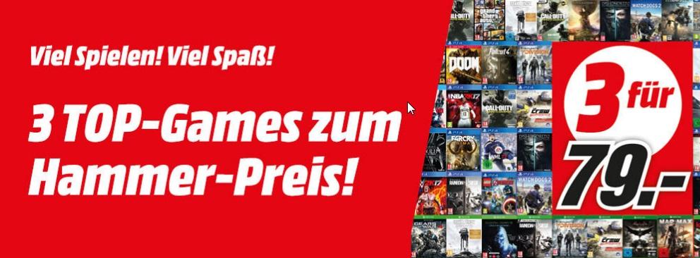 3 Games für 79€ - Media Markt