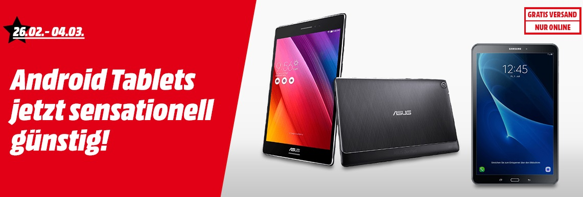 Media Markt IT-Superwochen Android Tablets