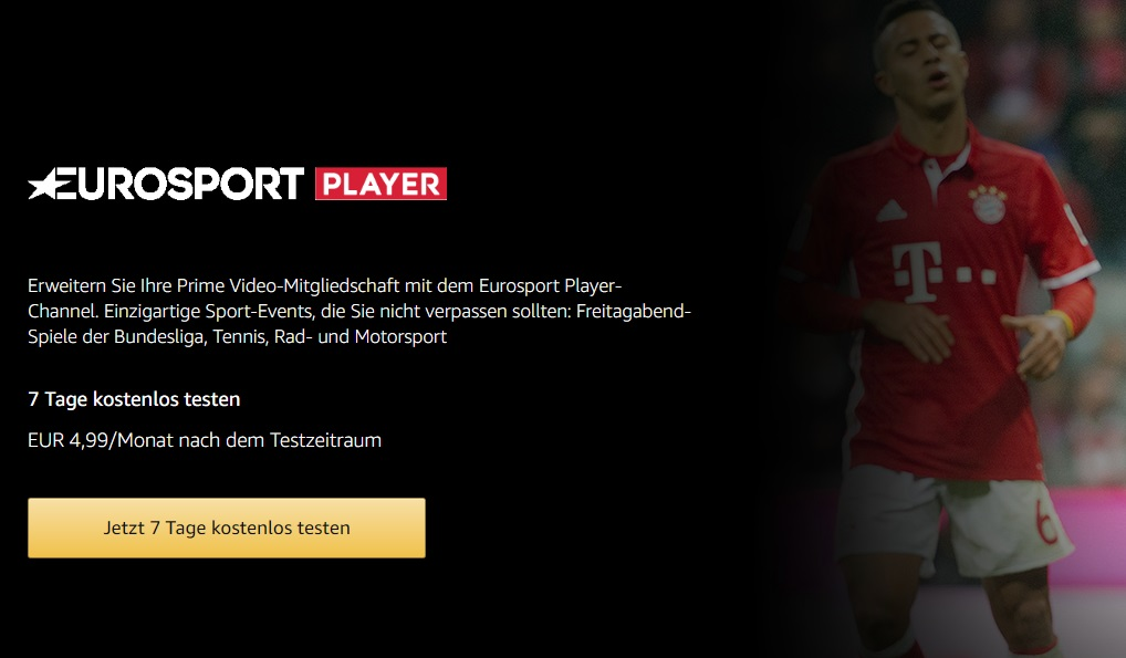 Amazon Prime Eurosport Player