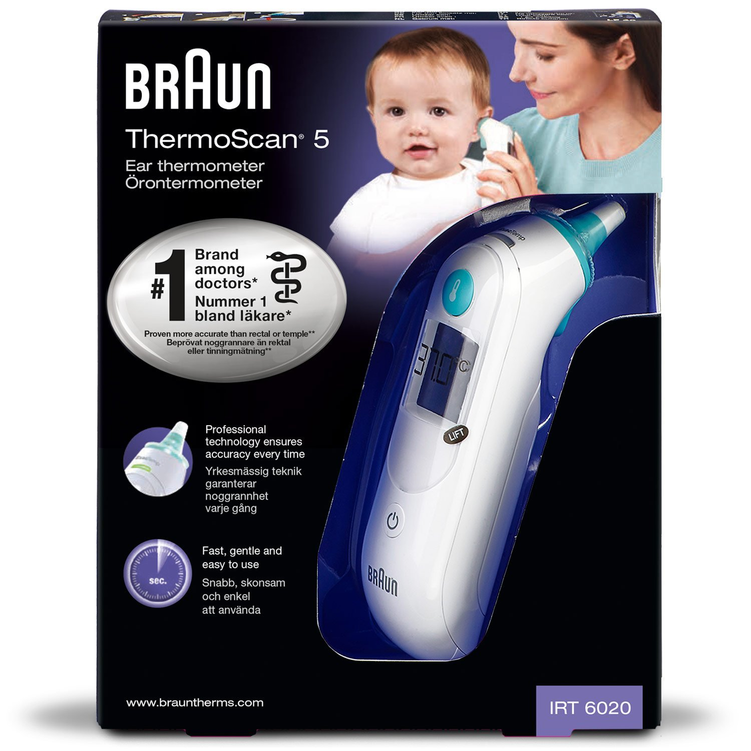 Braun ThermoScan Ohrthermometer amazon