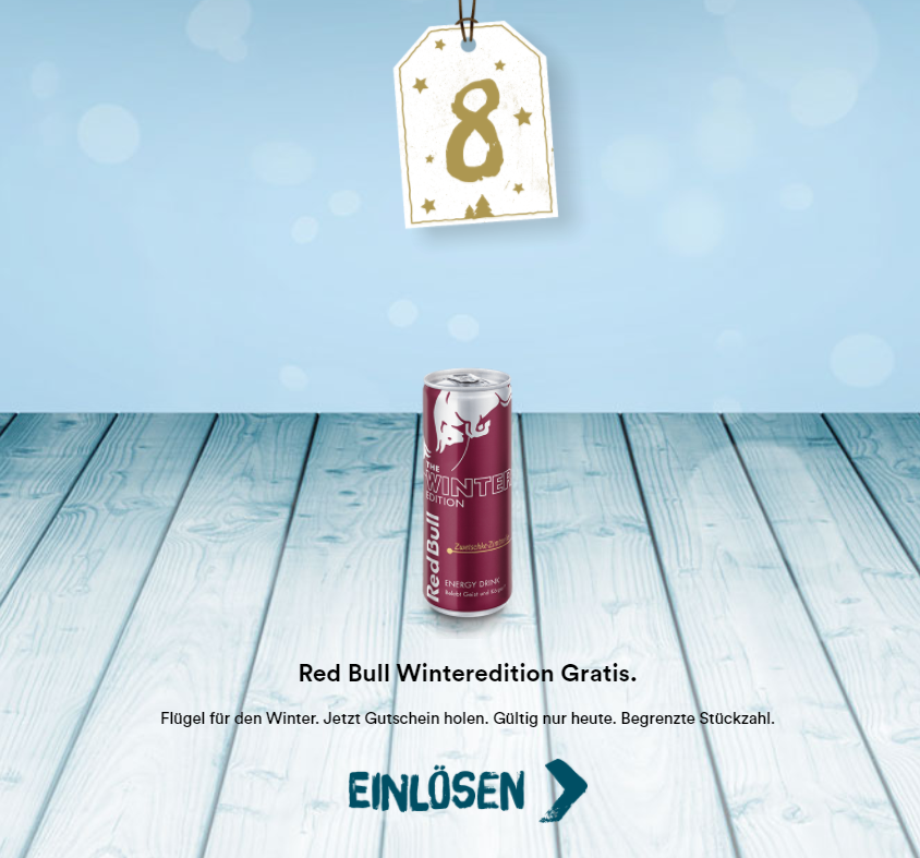 McDonalds Adventskalender Tag 8 Red Bull