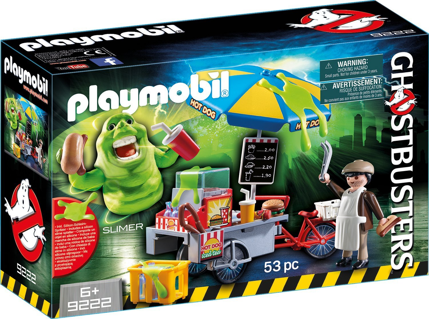 Playmobil Ghostbusters Slimer Hot Dog Stand amazon
