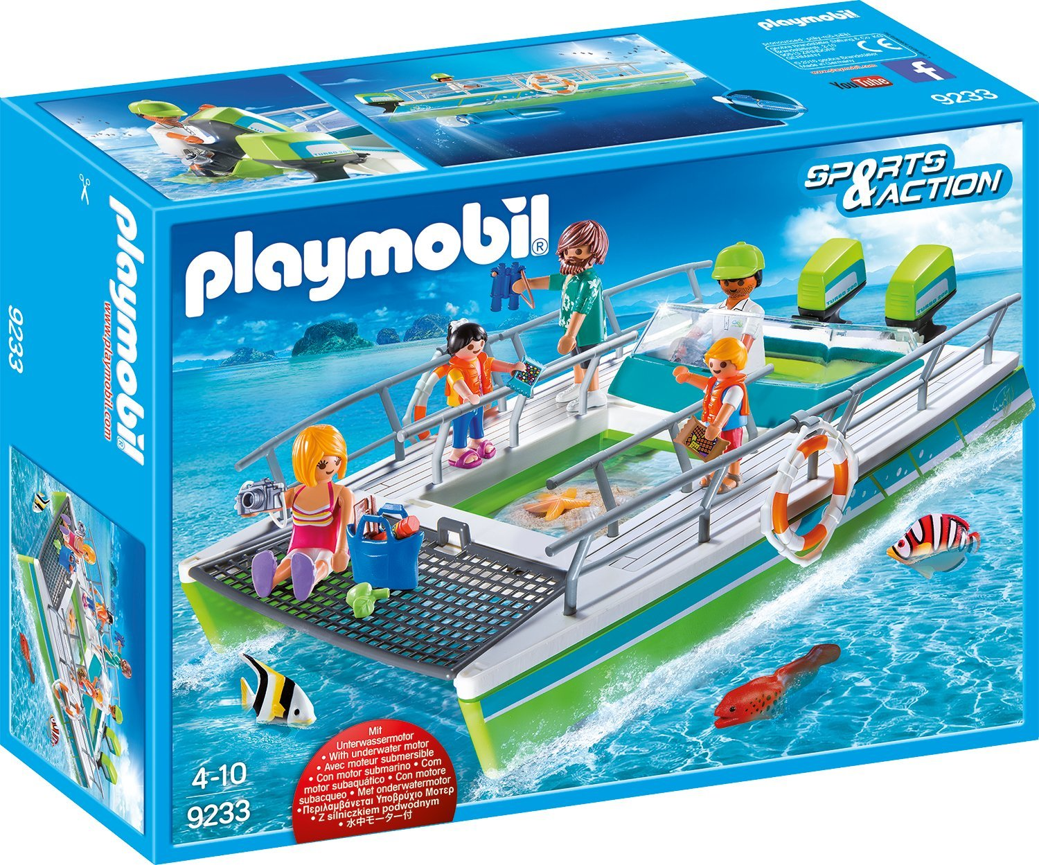Playmobil Glasbodenboot amazon