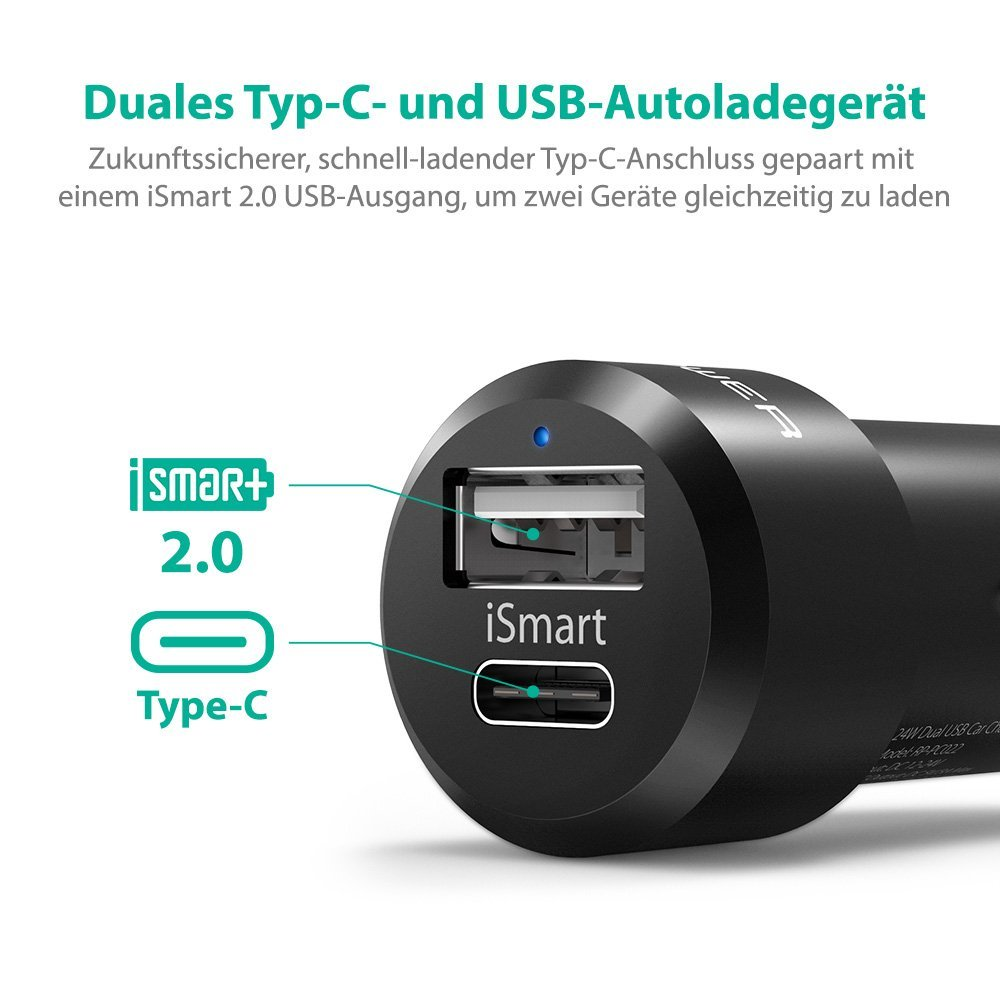 RAVPower Autoladegerät amazon
