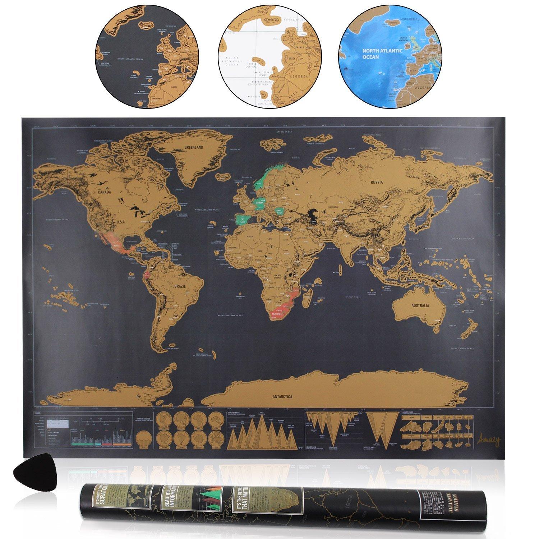 Weltkarte Rubbeln amazon