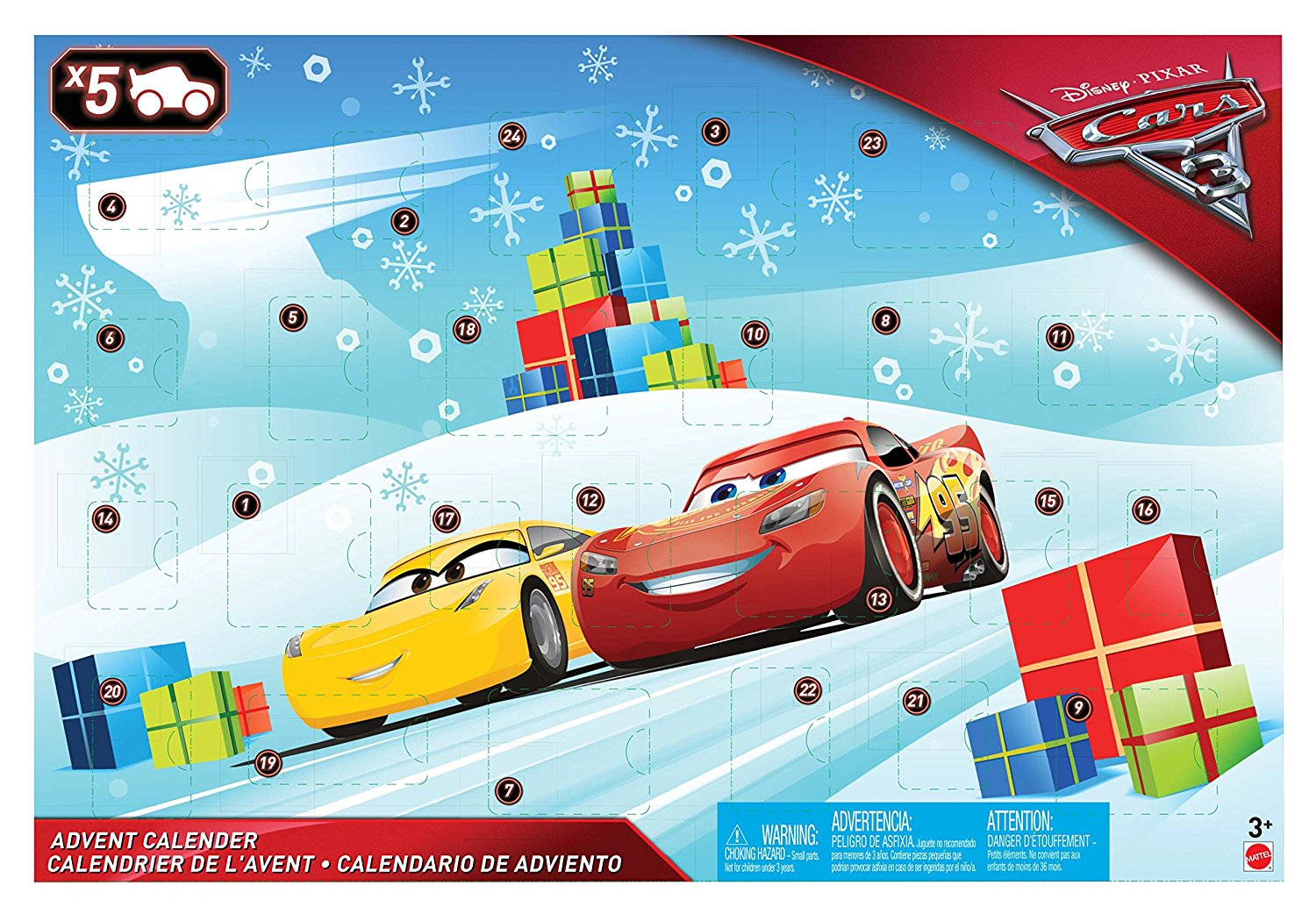 Mattel Disney Cars amazon Adventskalender