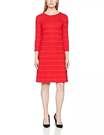 s.Oliver Damen Kleid rot amazon