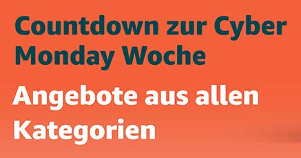 Countdown zur Cyber-Monday-Woche amazon