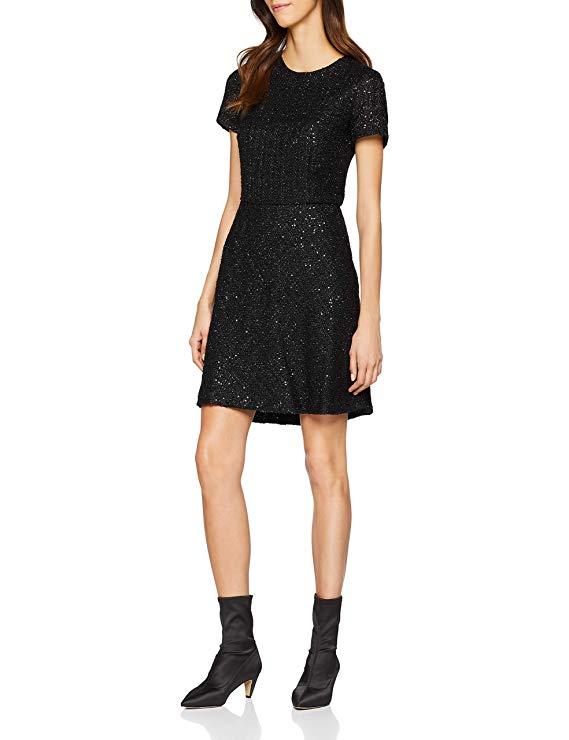 Esprit Damen Kleid schwarz amazon