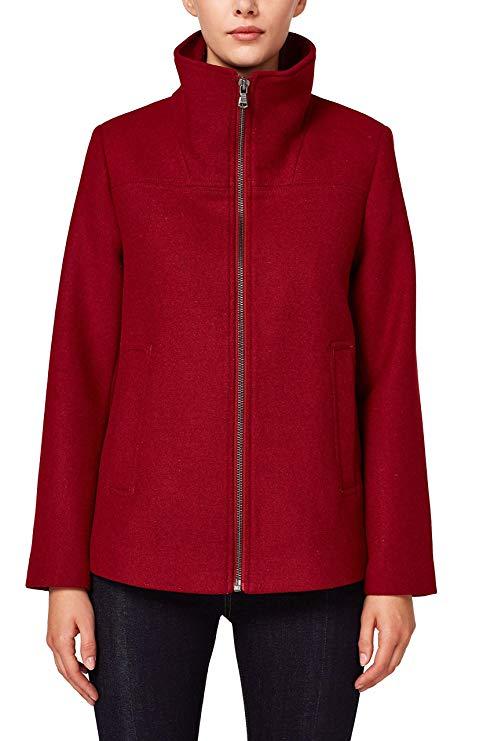 Esprit Damen Mantel rot amazon
