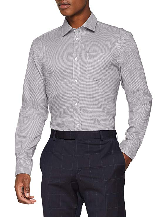 Esprit Herren Businesshemd grau amazon