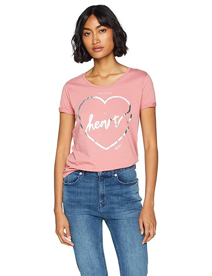 BOSS Damen T-Shirt amazon rosa