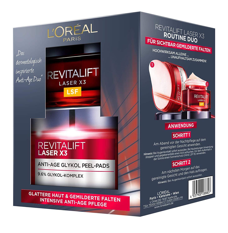 L'Oreal Revitalift Gesichtspflegeset amazon