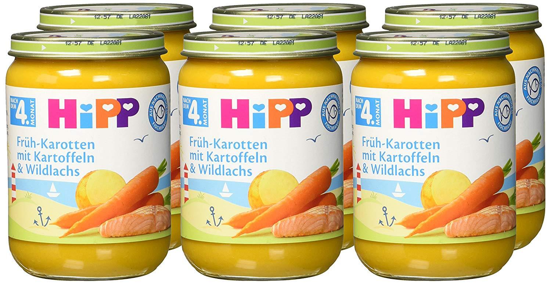 HiPP Frühkarotten mit Kartoffeln und Wildlachs amazon