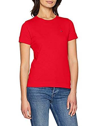 Tommy Hilfiger Damen T-Shirt rot amazon