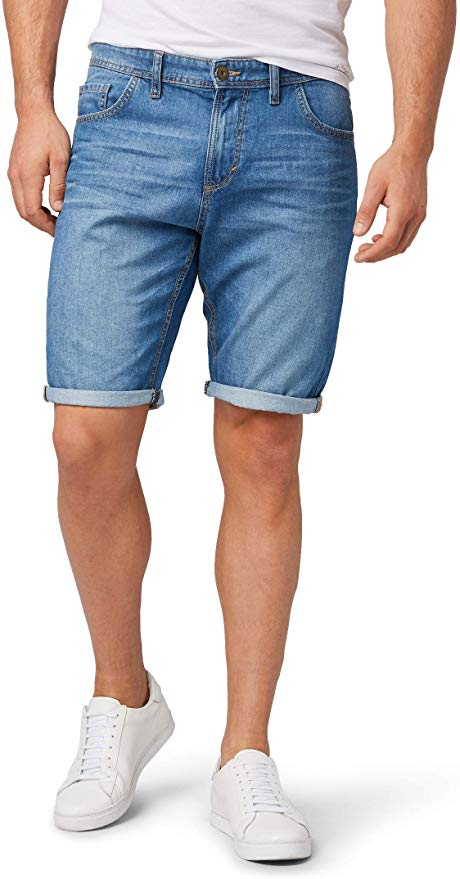 Tom Tailor Herren Shorts blau amazon