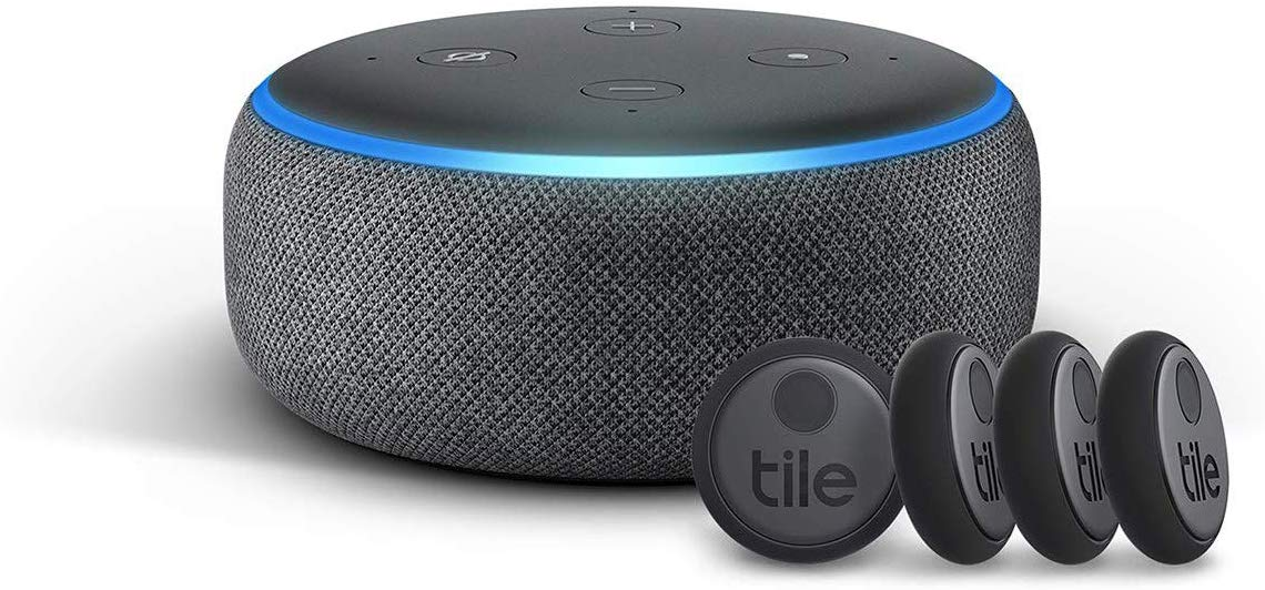 Tile Sticker Amazon Echo Dot Bundle