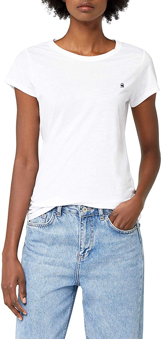 G-STAR RAW weiß Damen T-Shirt amazon