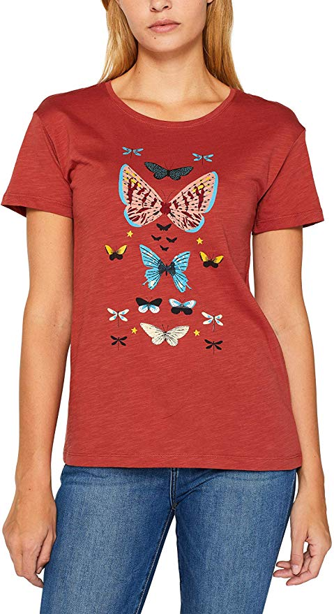 edc by Esprit Damen T-Shirt Schmetterling amazon