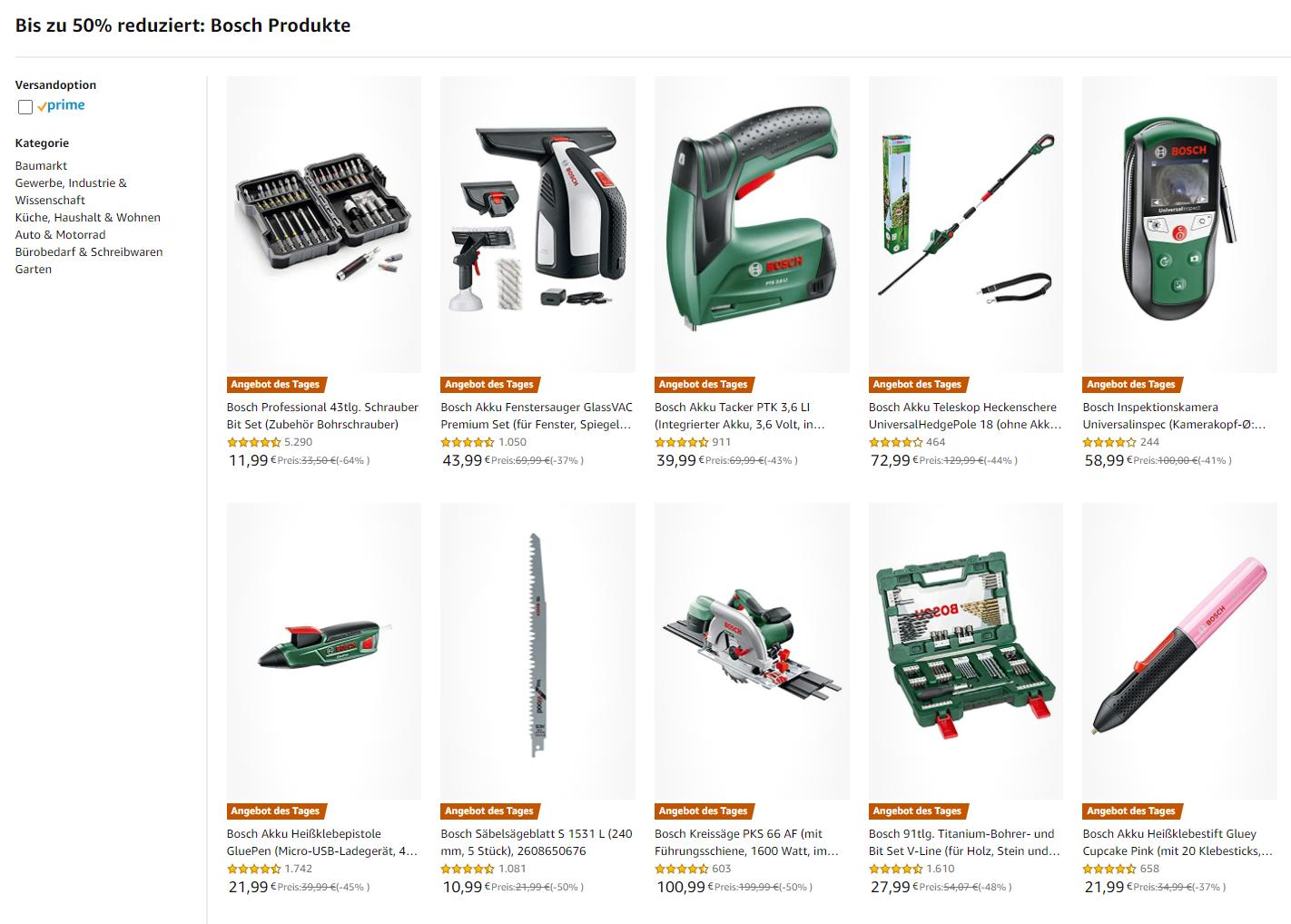 Bosch Werkzeug amazon
