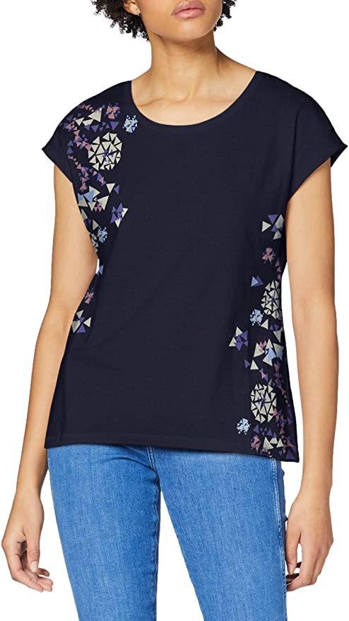 edc by Esprit damen T-Shirt blau amazon