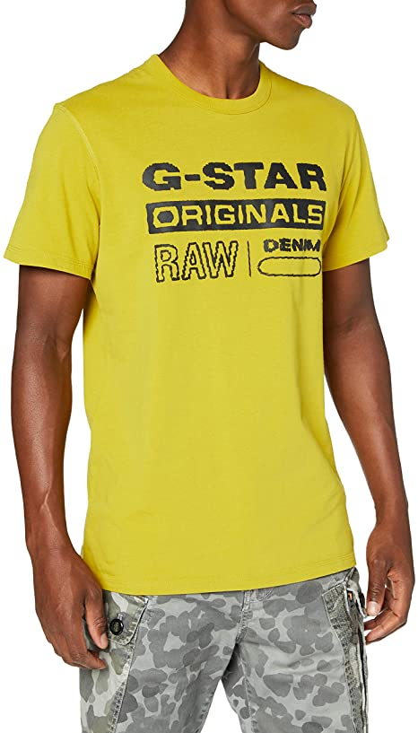 G-STAR RAW Herren T-Shirt gelb amazon