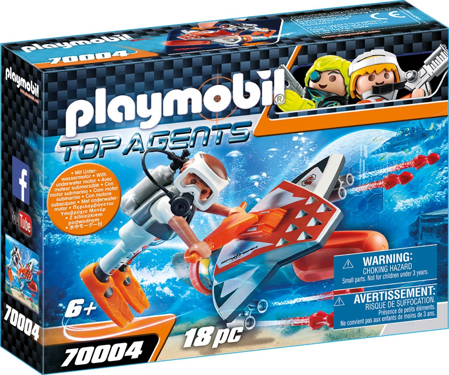 Playmobil Top Agents Unterwasser amazon